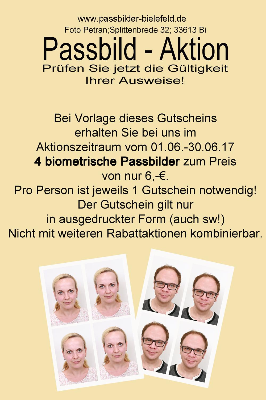 Passbilder und Bewerbungsbilder in Bielefeld